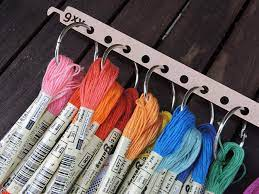 How to organize embroidery floss?