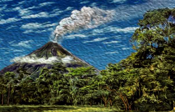 Reviews the Arenal Volcano
